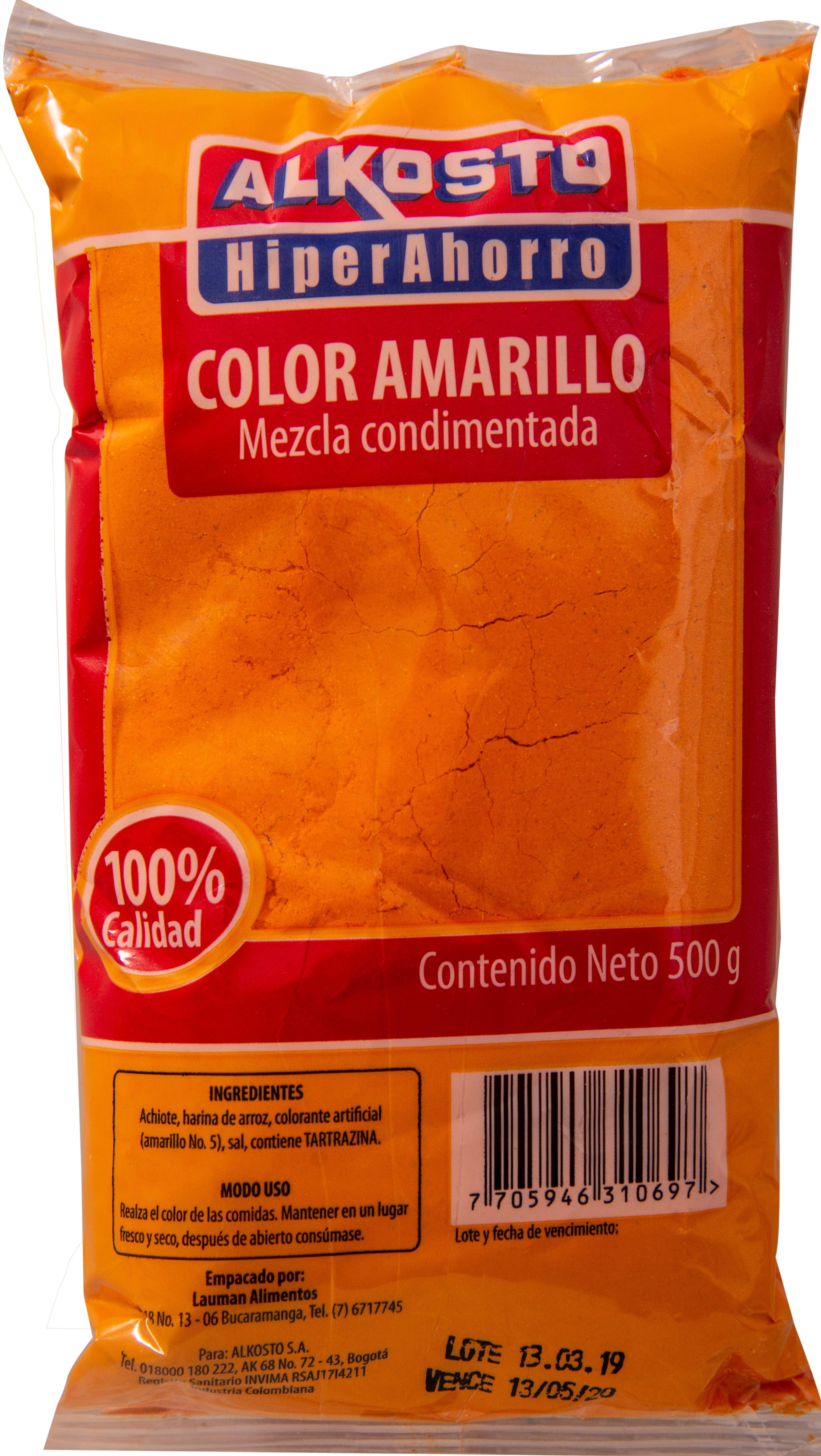 Color Amarillo Alkosto 500g