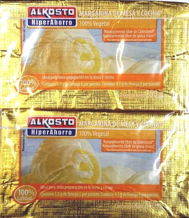 Margarina Alkosto Barra 250g x2u