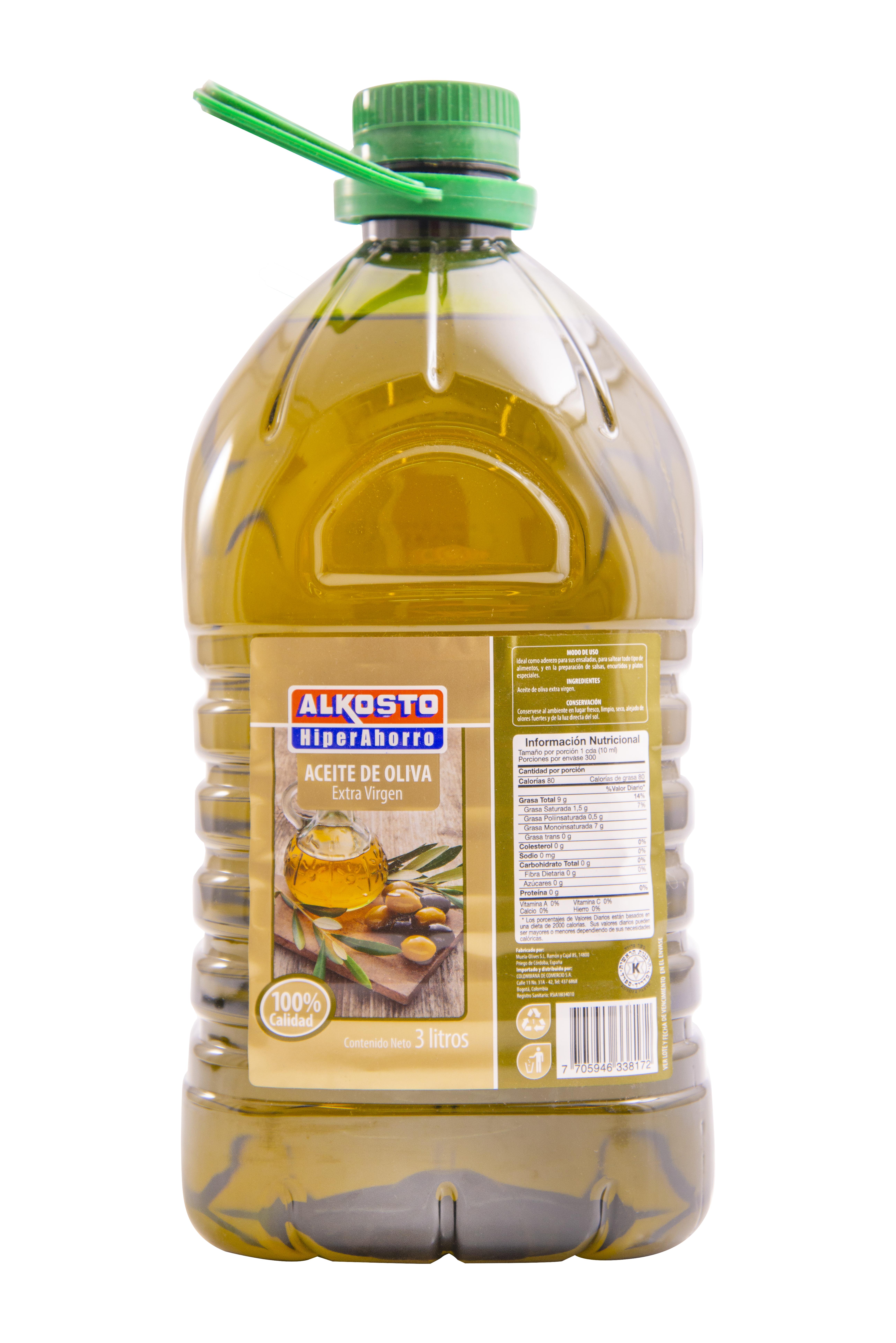 Aceite Alkosto Oliva Extra Virgen 3l
