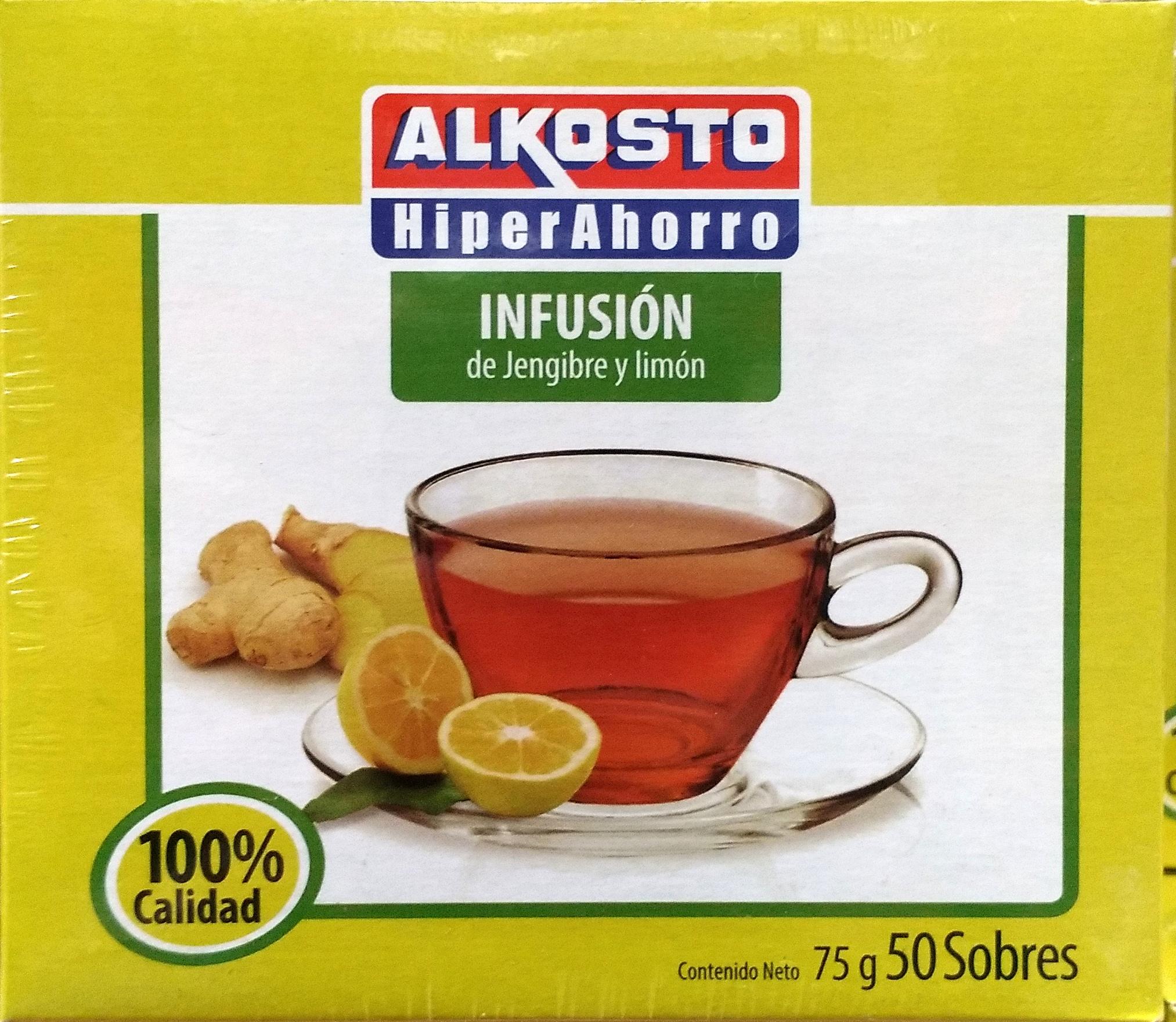 Infusión de Jengibre y Limón Alkosto X50u 75g