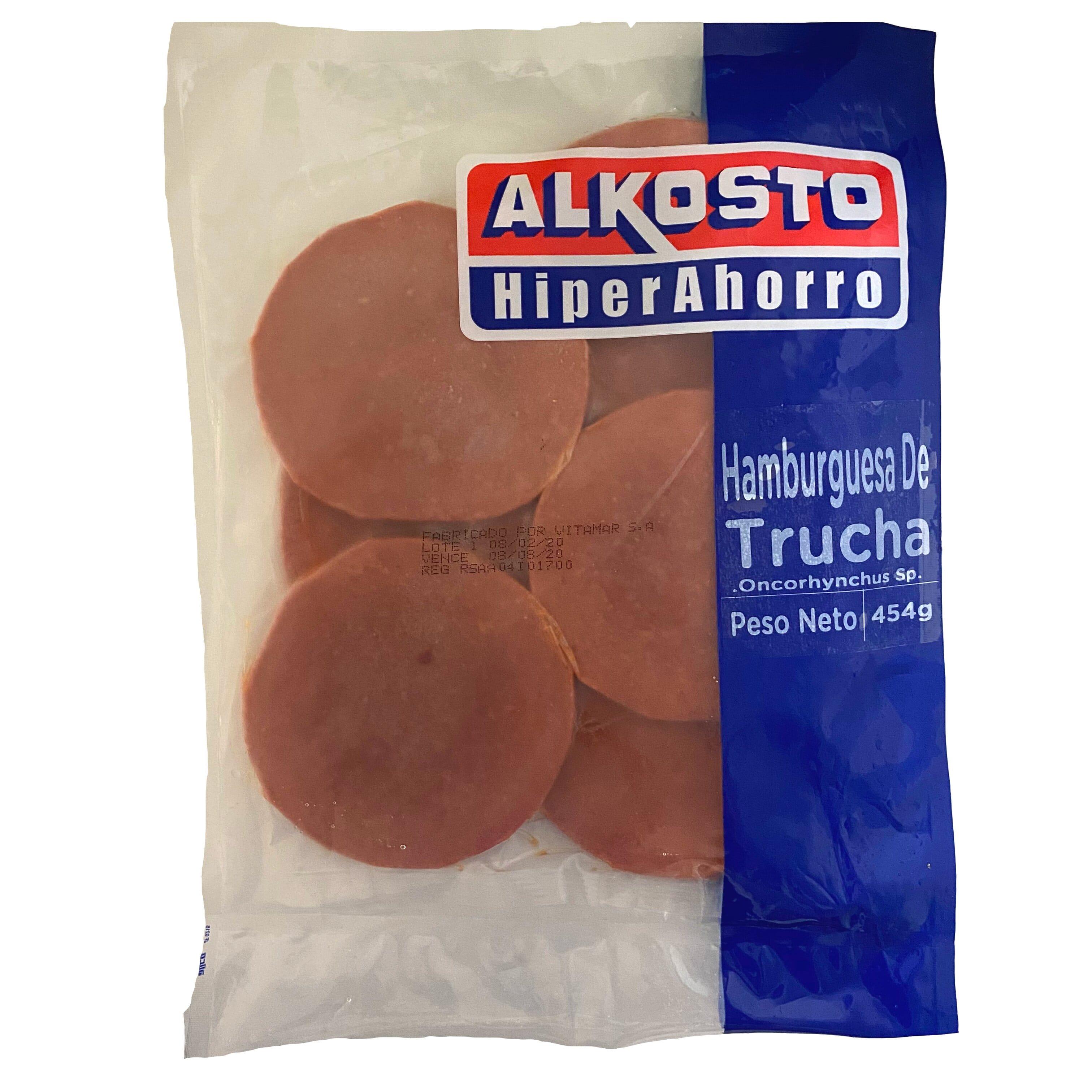 Hamburguesa Trucha Alkosto 454g
