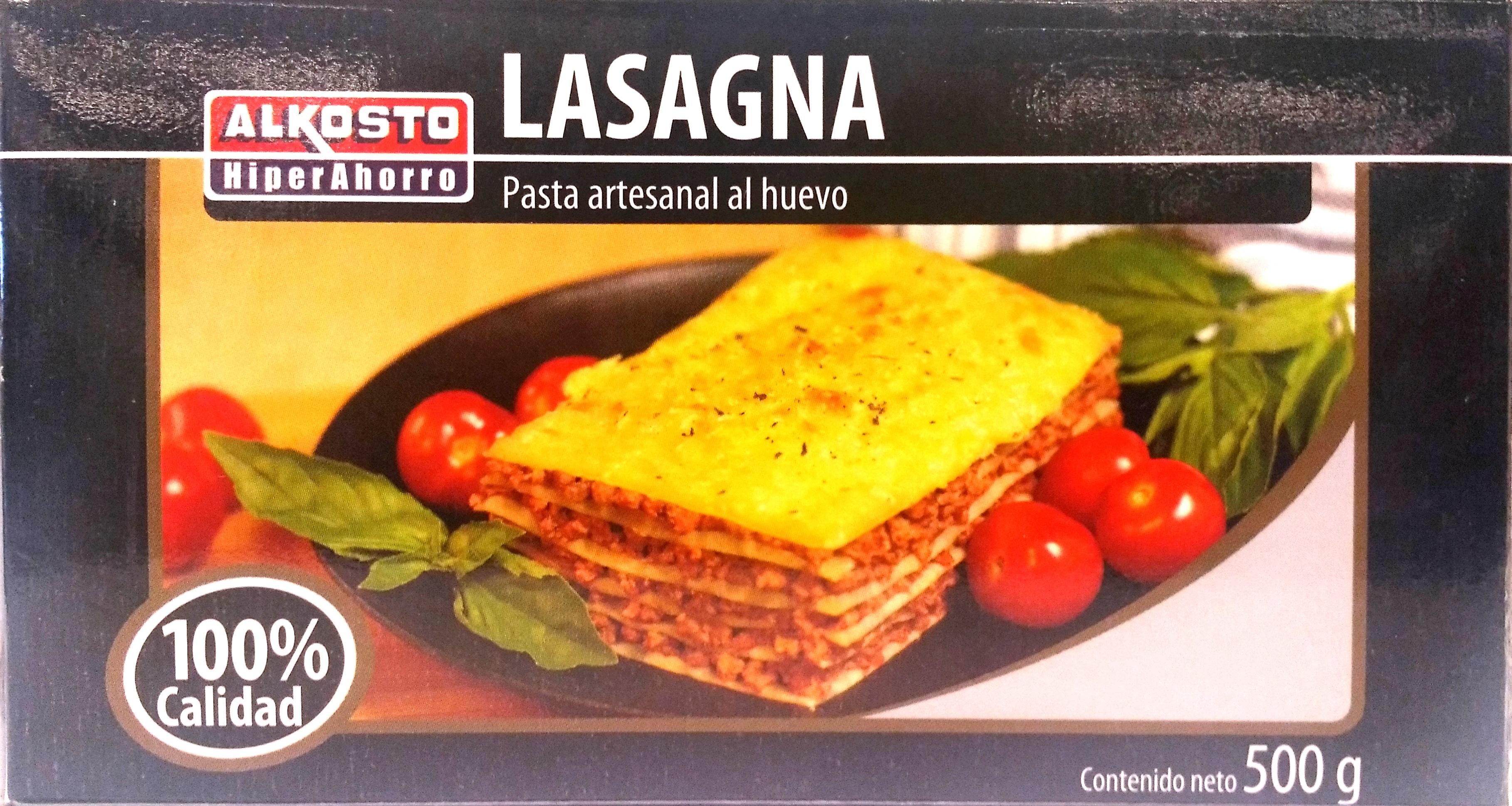 Lasagna Alkosto Artesanal 500g