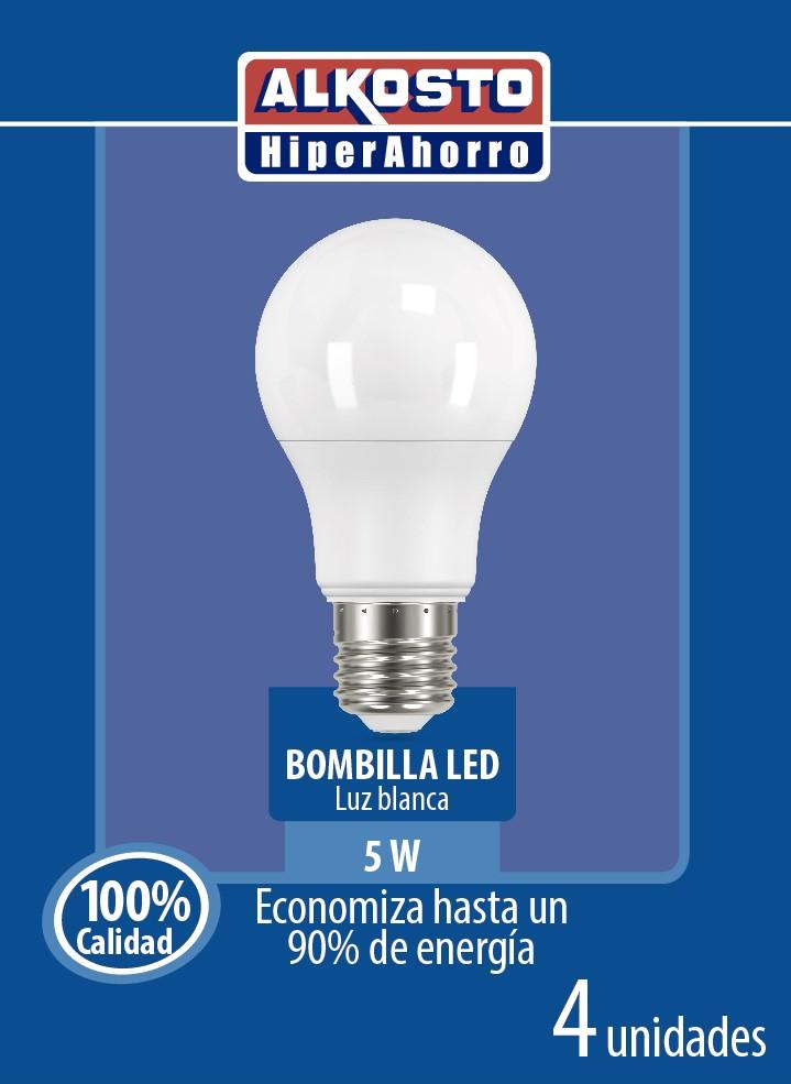Bombillo led Alkosto Blanca 5w x4u