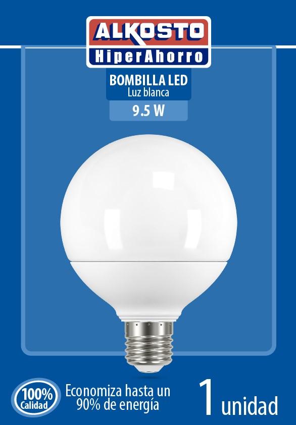 Bombillo led Alkosto Globo Blanco 9 5w