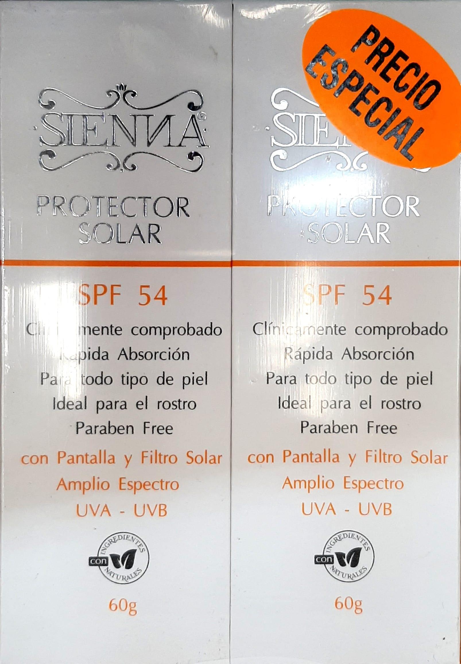 duo Pack Bloqueador Sienna Spf54