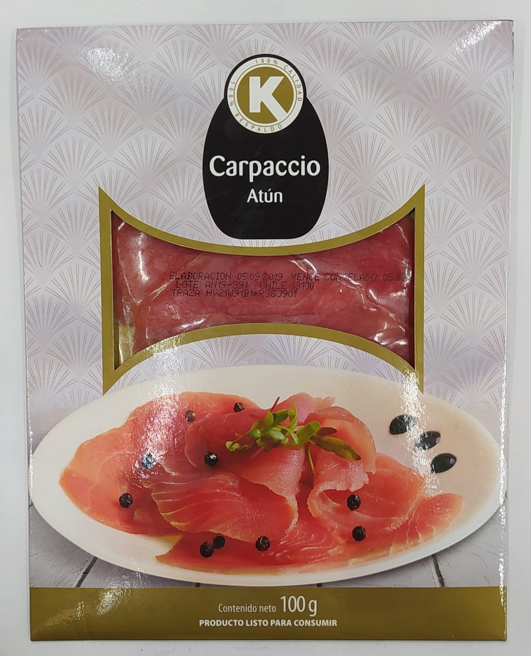 Carpaccio k de Atún 100g
