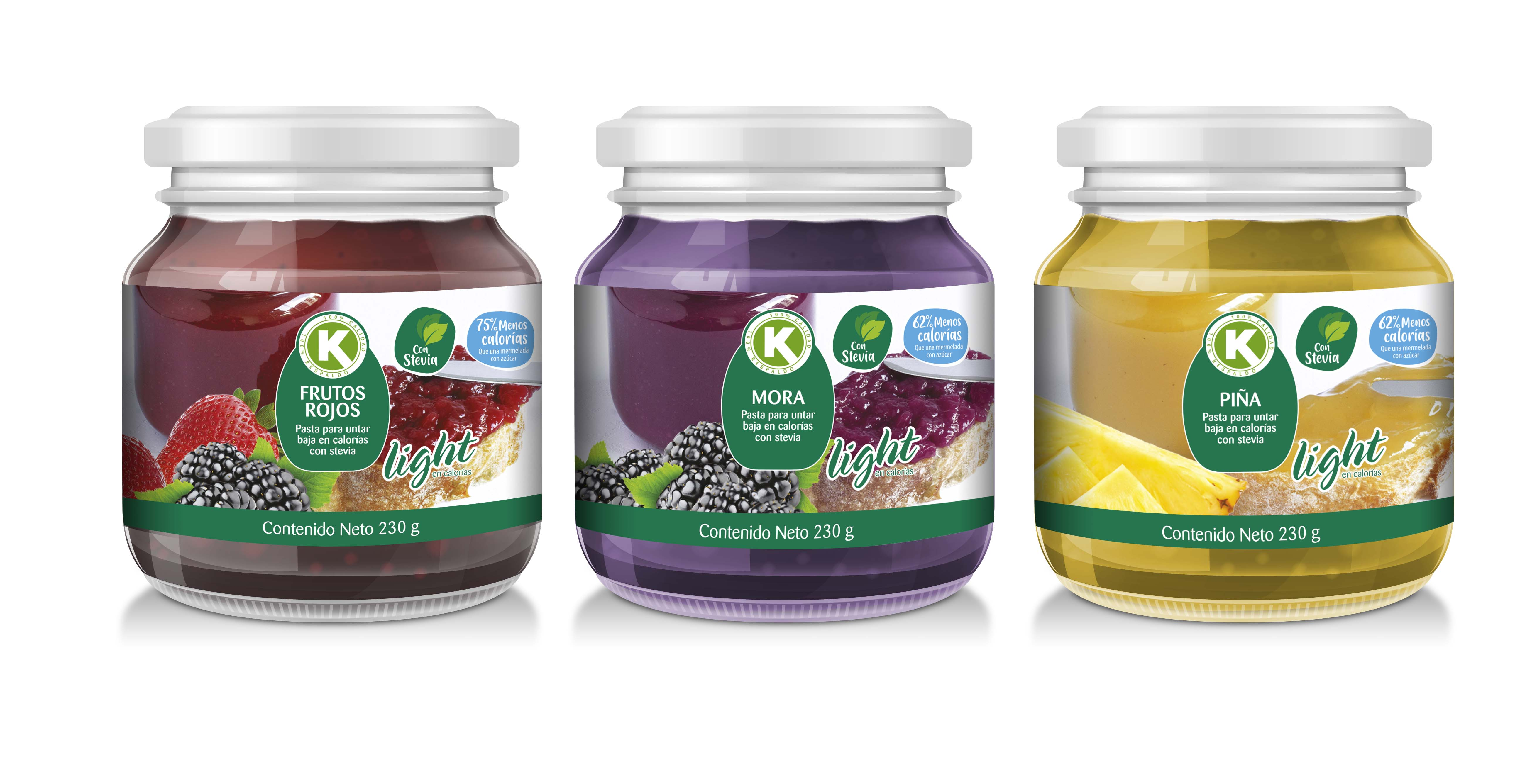 Mermelada k Frutos Rojos Stevia 230g