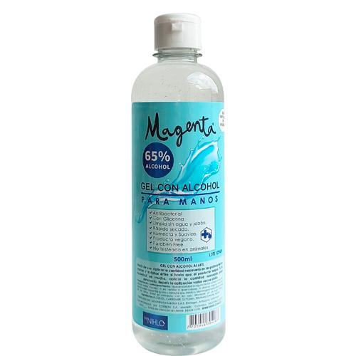 Antibacterial gel 65 Alcohol Magenta 500 ml