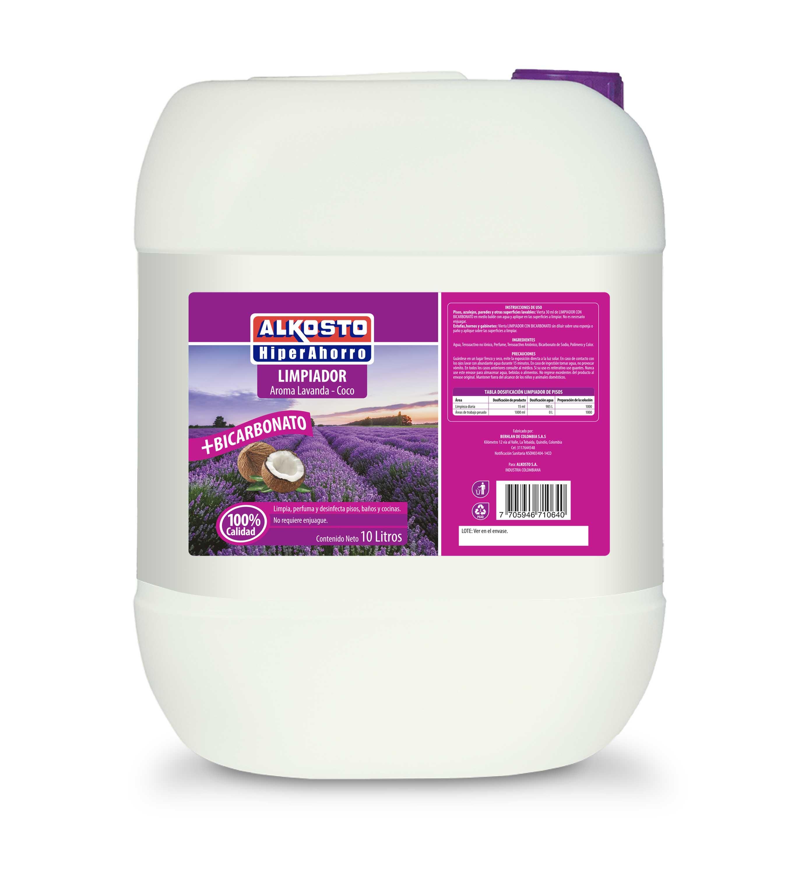 Limpiador Pisos Alkosto Aroma Coco Bicarbonato 10l