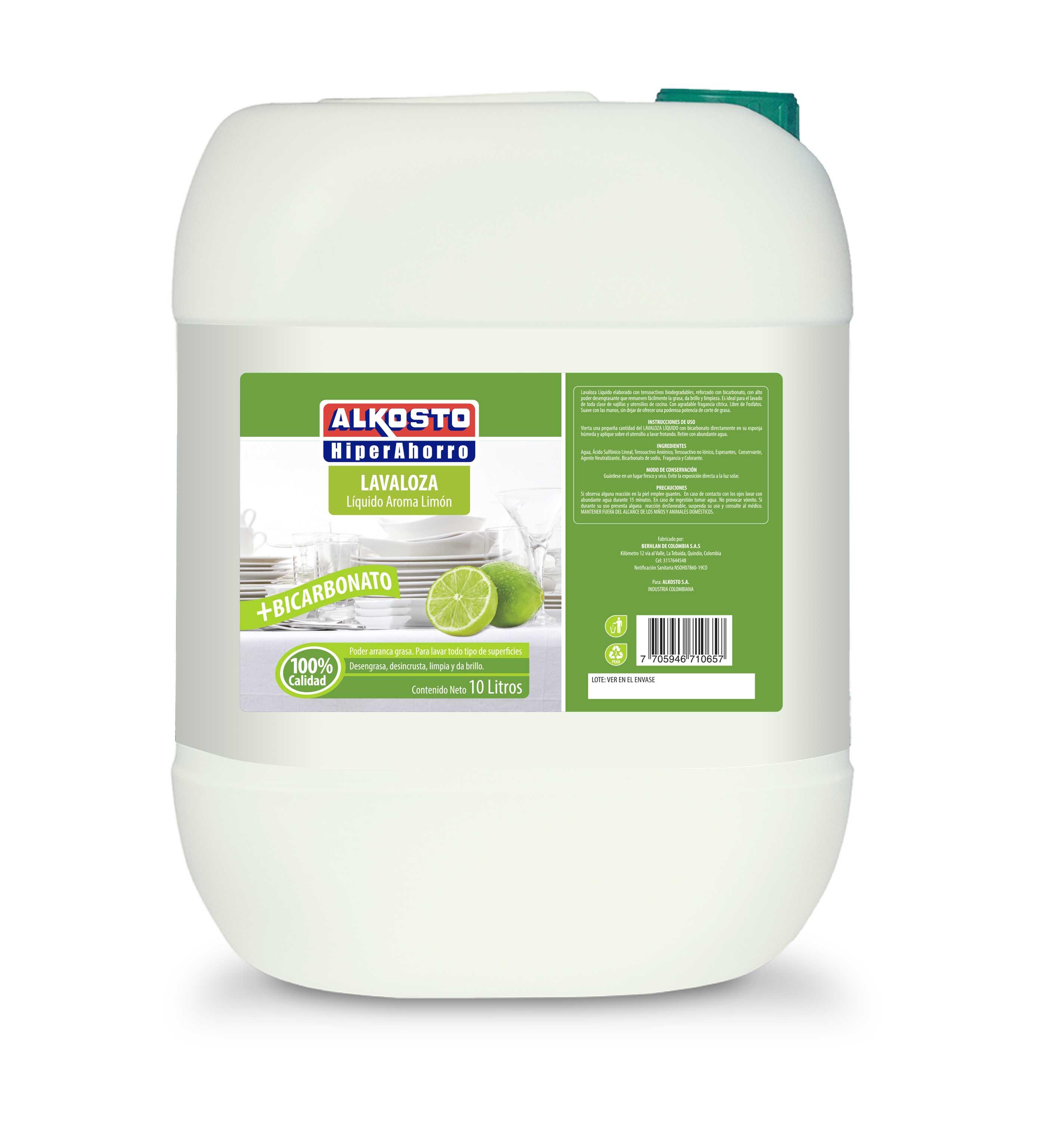 Lavaloza Liquido Alkosto Bicarbonato 10l