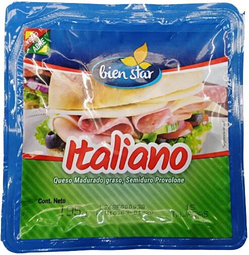 Queso Bienstar Italiano Tajado 195g