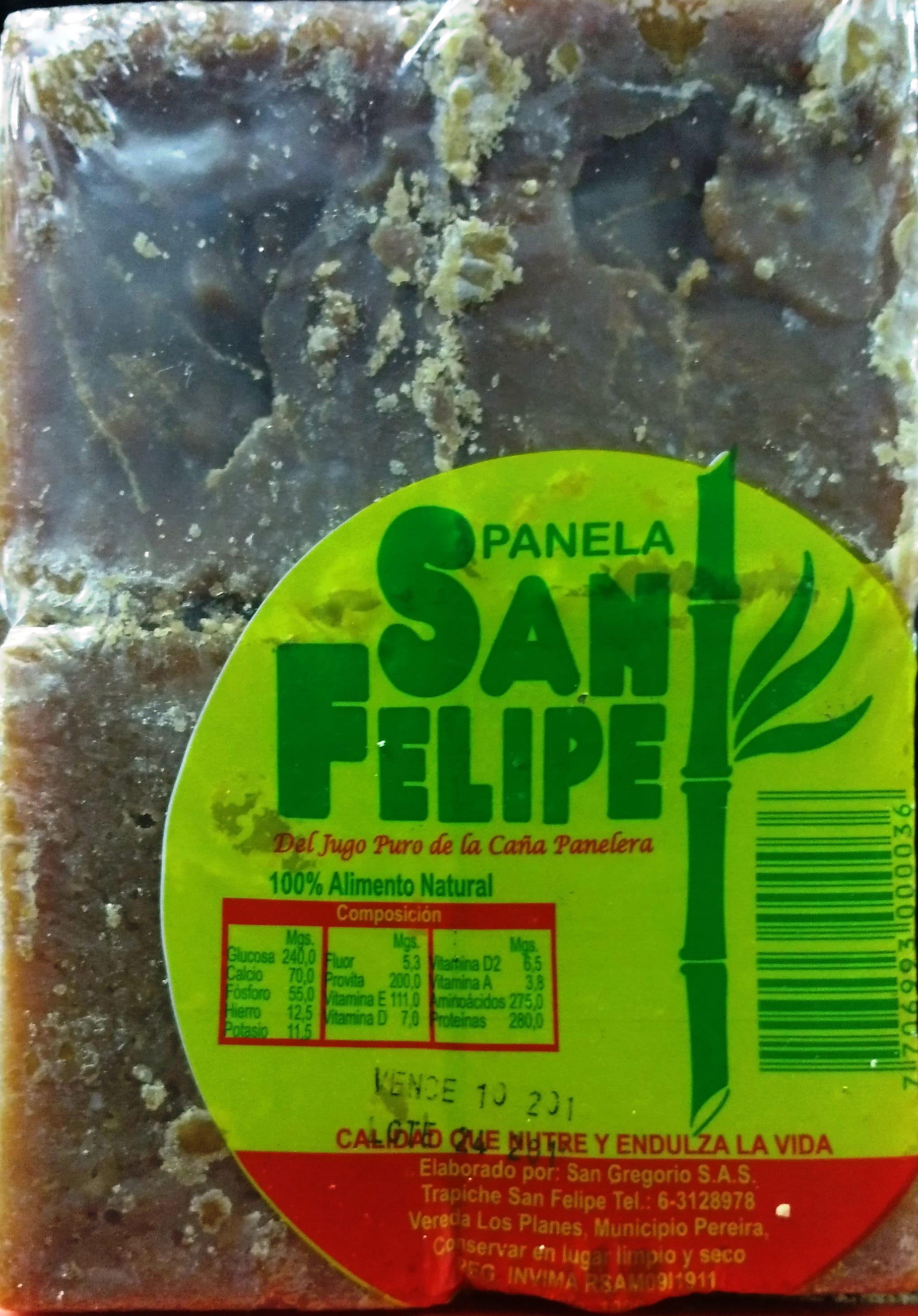 Panela san Felipe Cuadrada 125g x8u