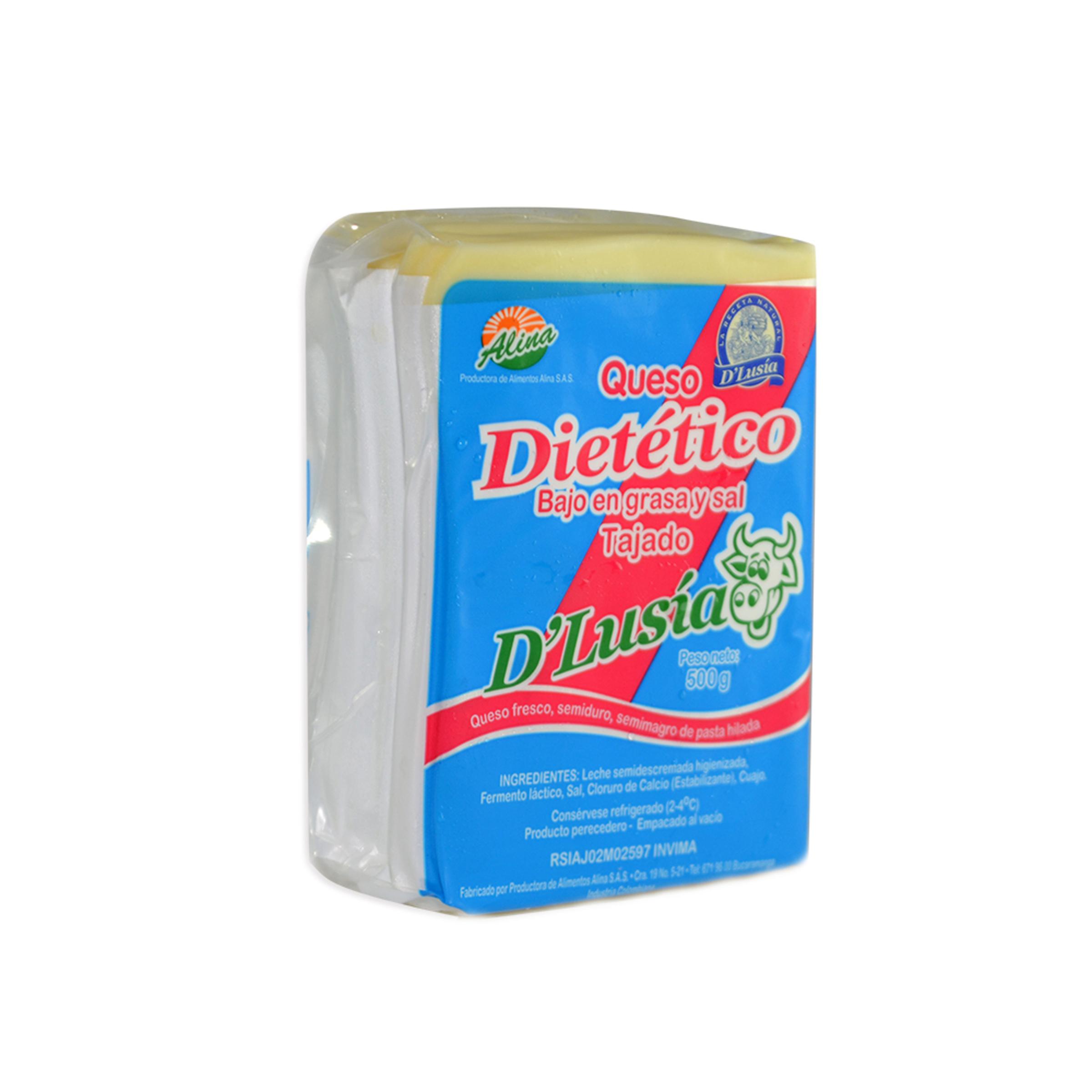 Queso d Lusia Dietetico Tajado 500g