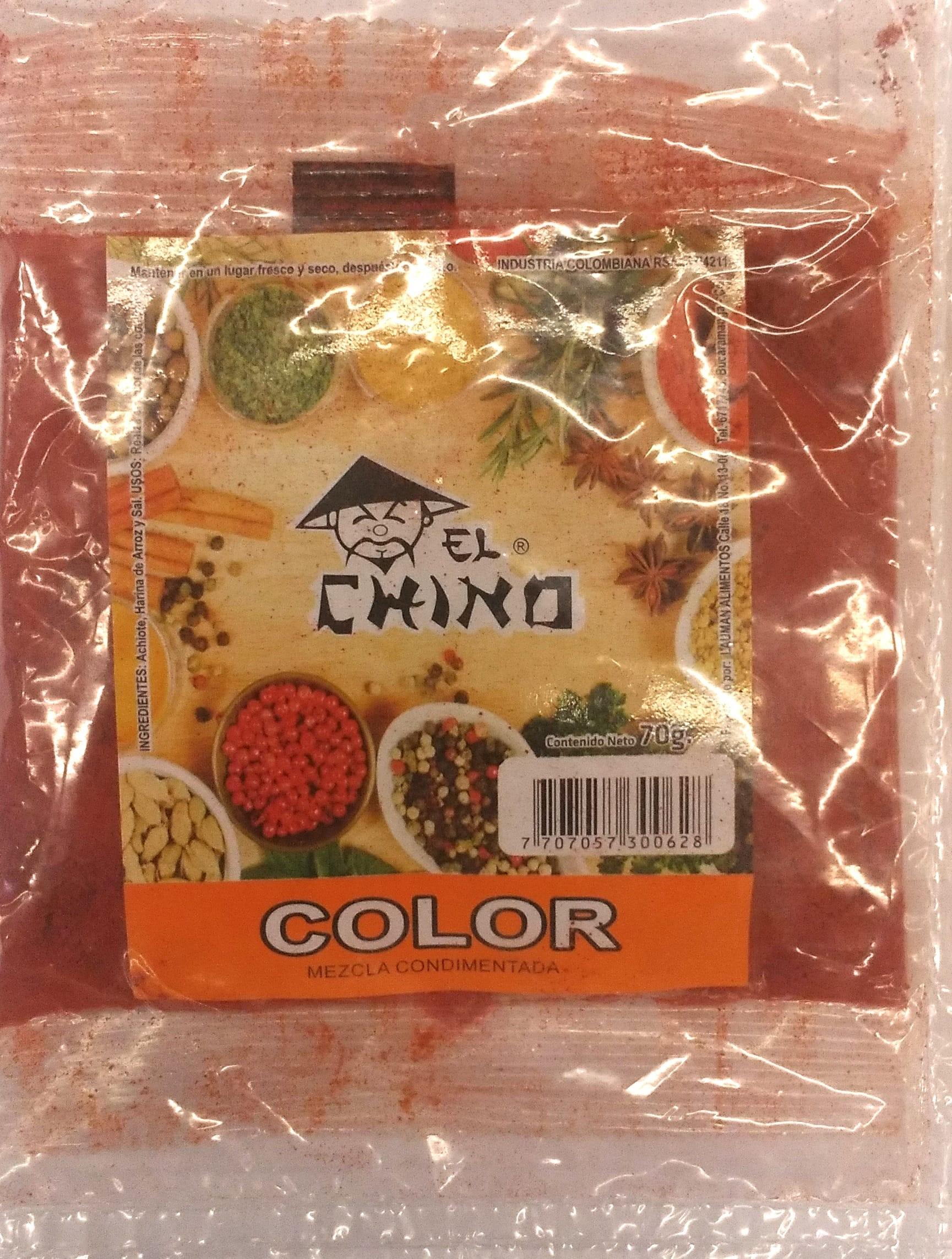 Color el Chino Rojo 70g