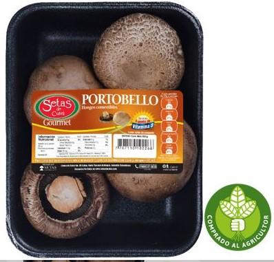 Champiñon Portobello Entero Vitamina d 350g