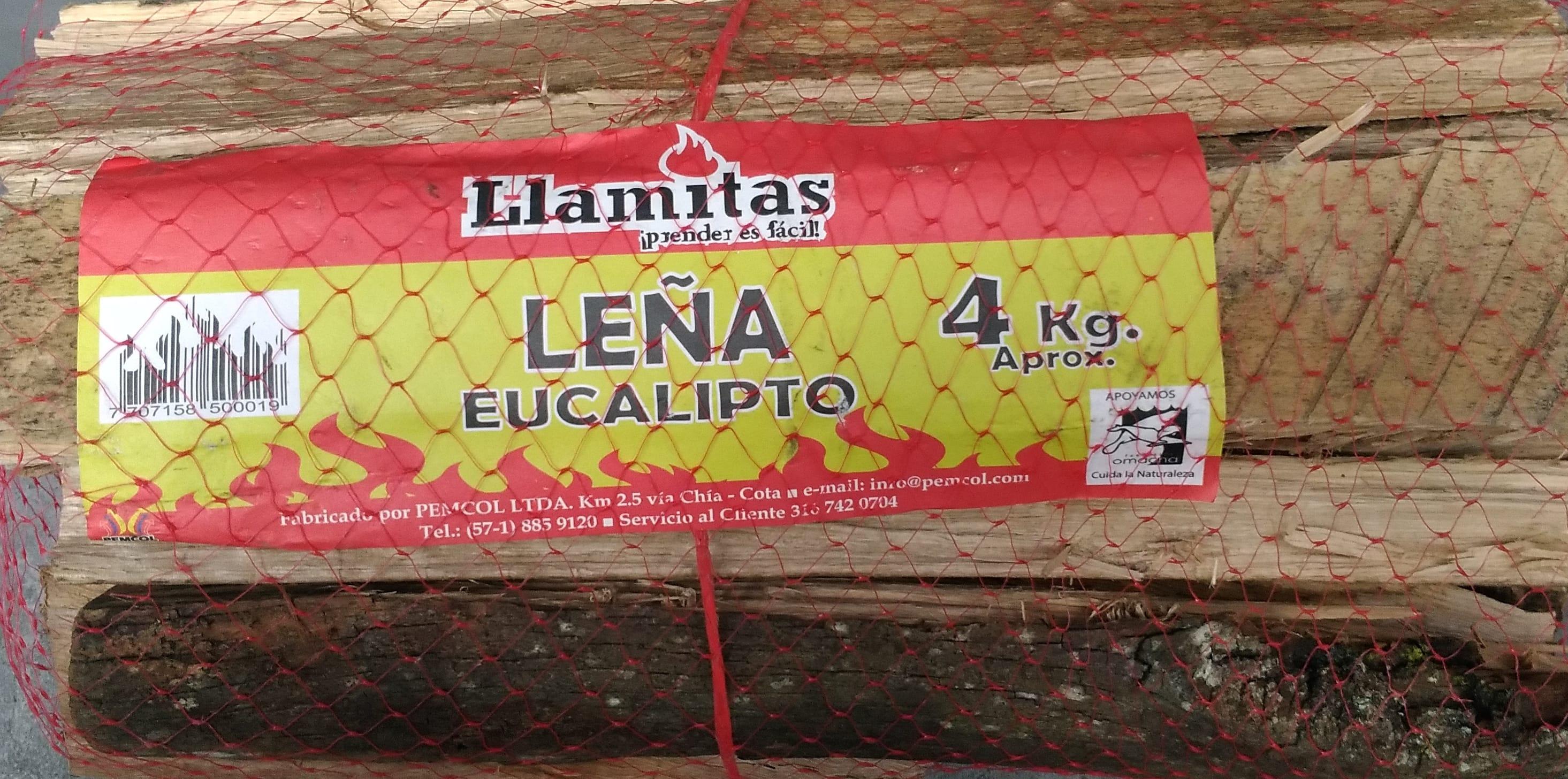 Leña Llamitas Eucalipto 4k