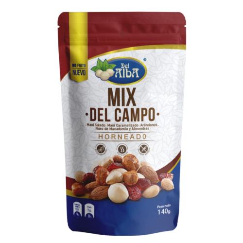 mix Delalba Mani Salado Mani Caramelizado Arandanos Nuez de Macadamia y Almendras 140g pp