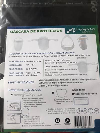 Mascara Antifluido Multiproyectos 30x25