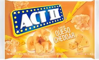 Palomitas act ii Queso Chedar 96gx3u