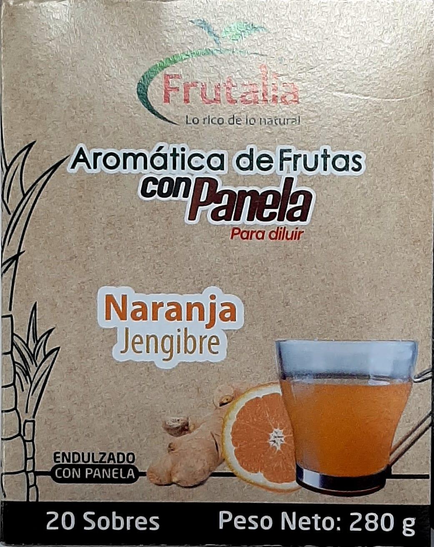 Aromatica Panela Frutalia Naranja Jengibre x20 280g