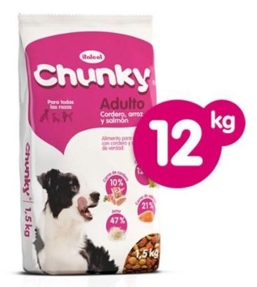Alimento Chunky Raza Grandes Cordero X12kg