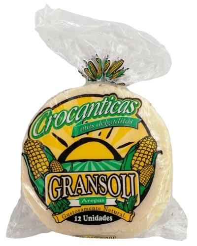 Arepa Maiz Gransoli Crocanticas mas Delgaditas x 12 und