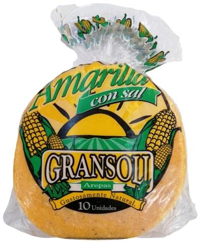 Arepa Amarilla con sal Gransoli x 10 und