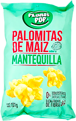 Palomitas de Maiz Sabor a Mantequilla Planetpop 101g