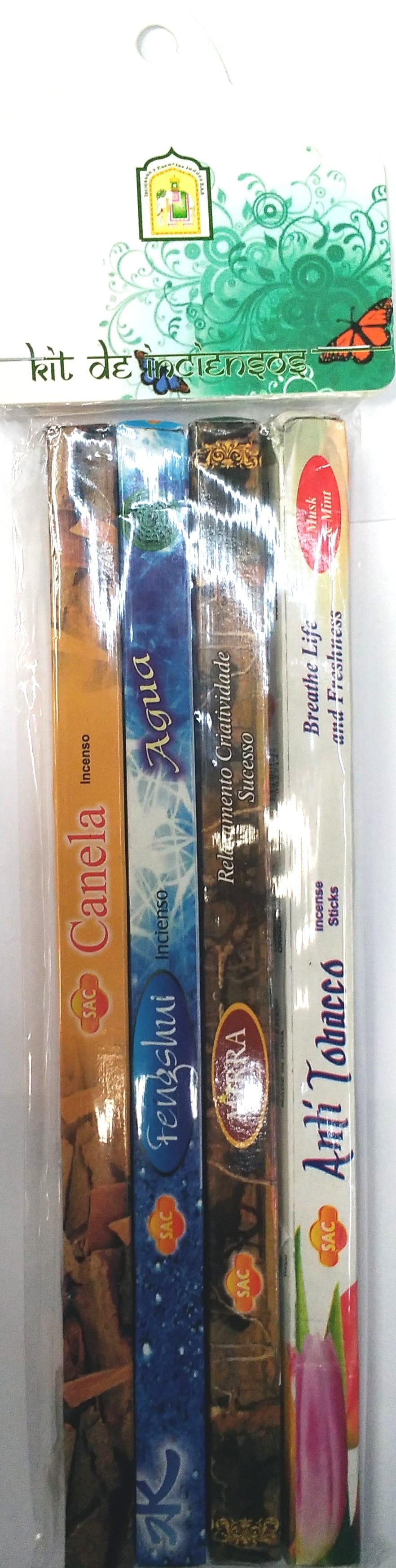 kit de Inciensos Surtido x 4 Paquetes
