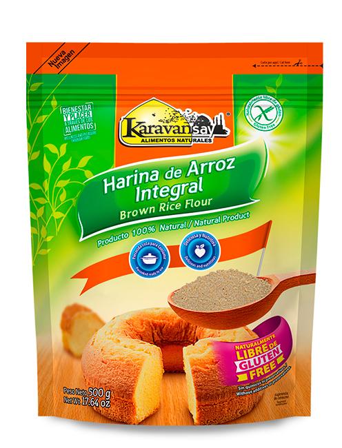 Harina Arroz Integral Karavansay 500g