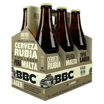 Cerveza bbc Lager Negra Botella 330mlx6