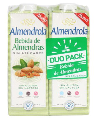 Bebida Almendras Almendrola sin Azucar 1l x2u