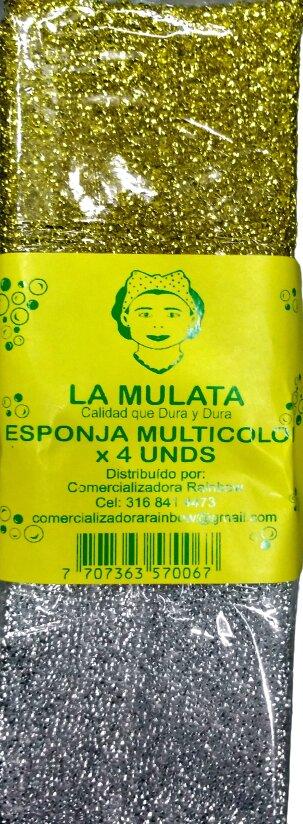 Esponja la Mulata Espuma Multicolor x 4