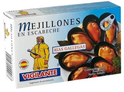 Mejillones Vigilante Escabe 115g