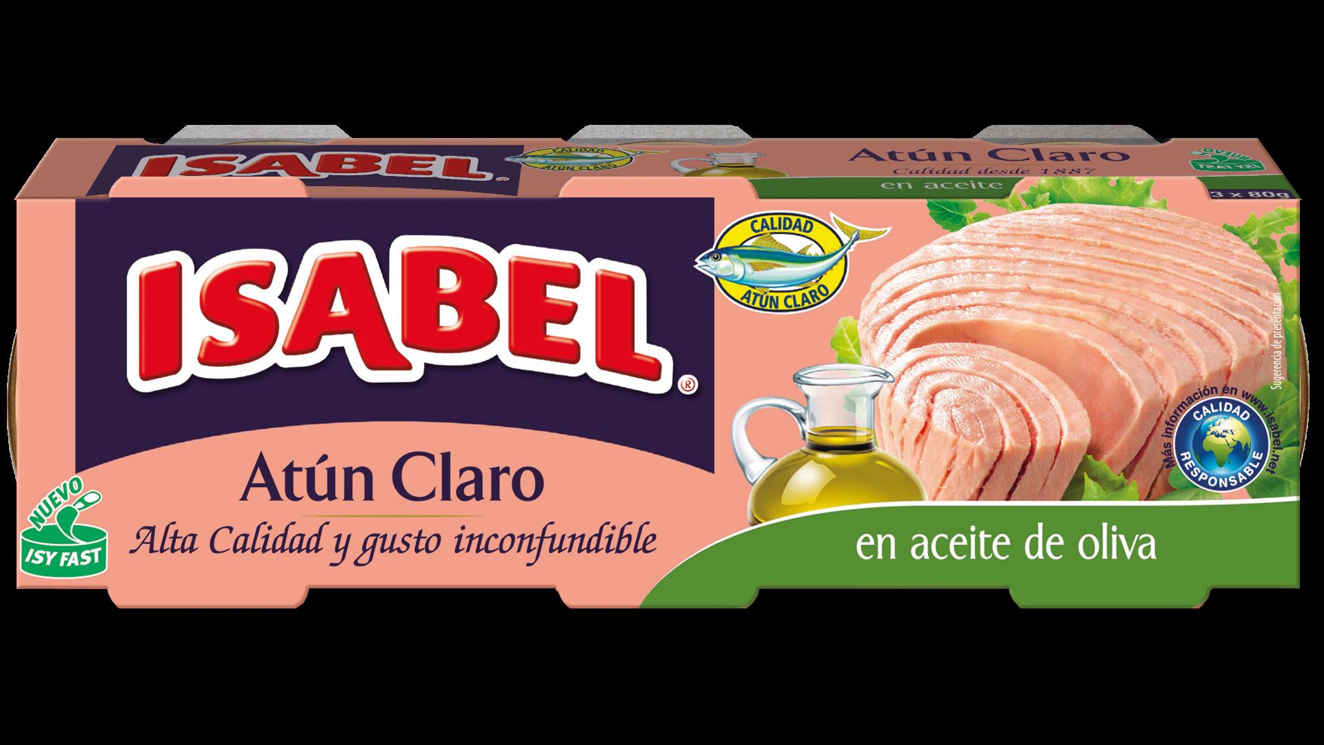 Atun Aceite Oliva Isabel 80g x3